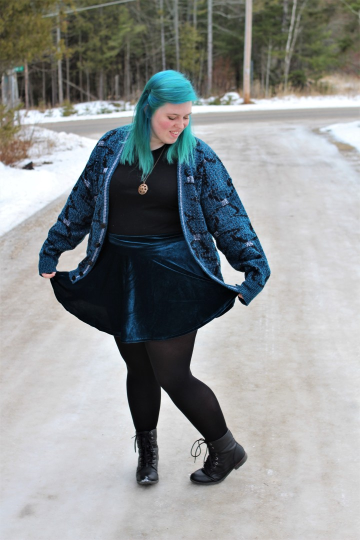 What I Wore: Sapphire in the Snow
