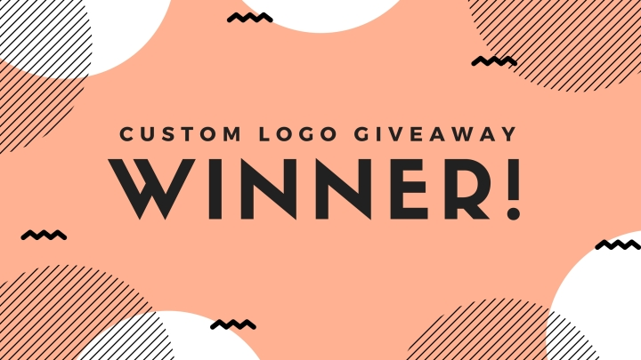 Custom Logo Giveaway WINNER!