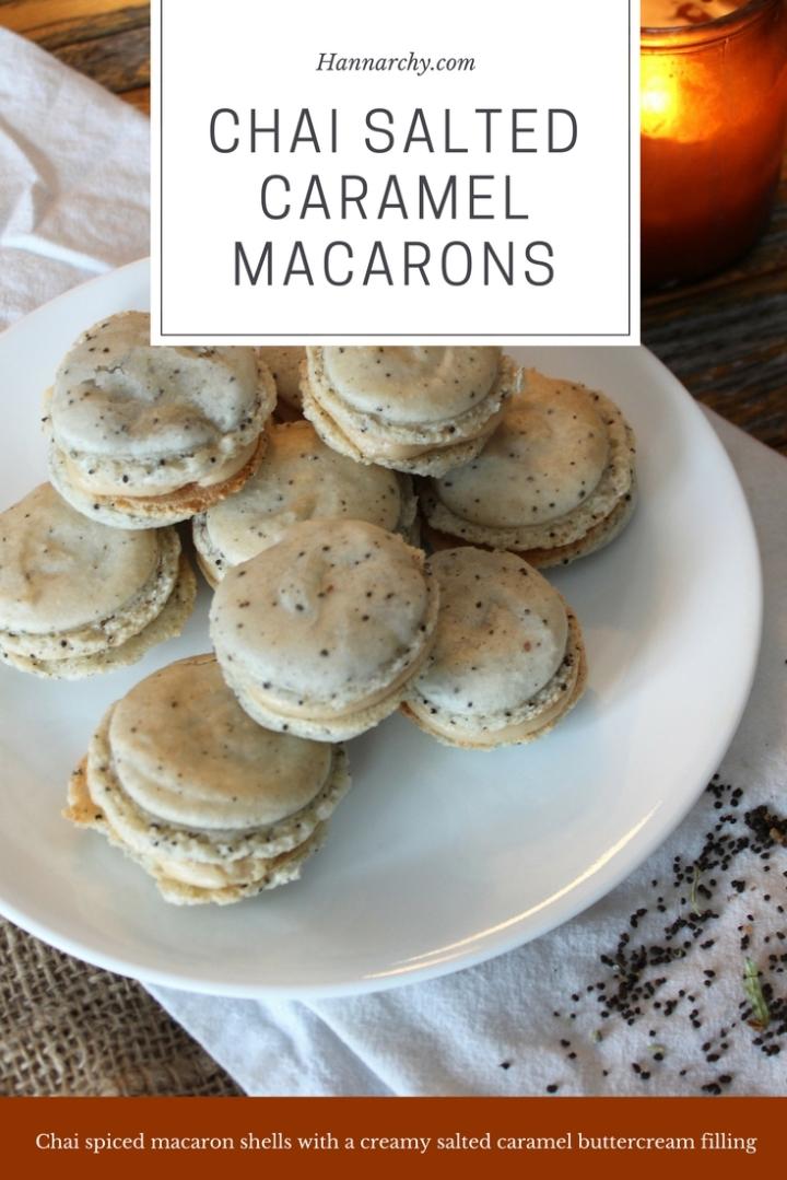Chai salted caramel macarons