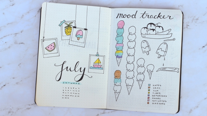 July BuJo Layouts