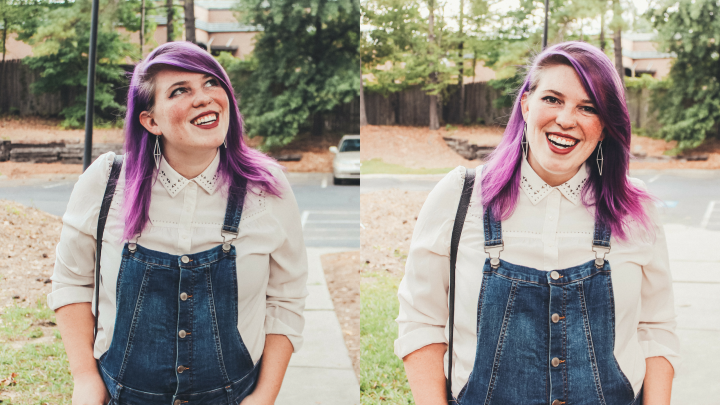 Purple Hair for National AdoptionMonth